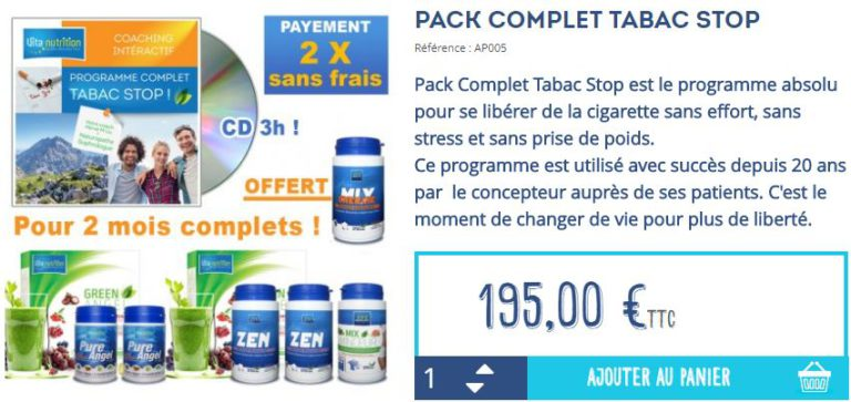 Pack Tabac Stop :
