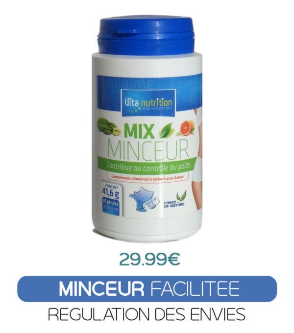 Mix Minceur, synergie naturelle d'extraits de fruits, plantes, vitamines et minéraux est là pour vous aider à réguler vos envies et soutenir votre perte de poids