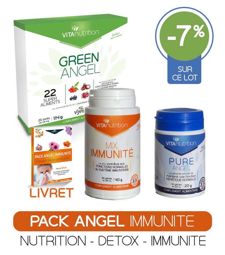 Pack Angel Immunité Nutrition cellulaire - Elimination des toxines - Ciblage retrouver une immunité naturelle forte en toute saison, à tout âge