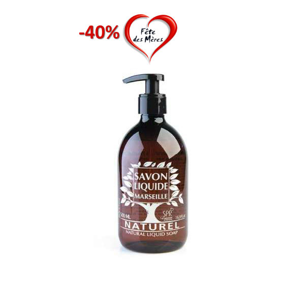 Savon liquide huile d'Olive Bio, sans parfum – 500ml