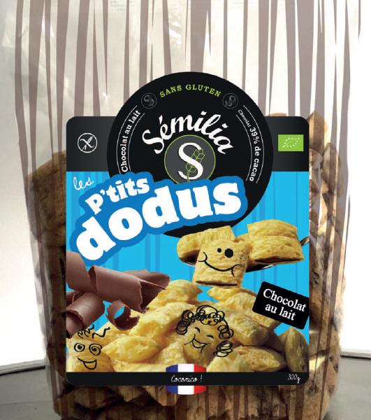 P'tits Dodus Bio Chocolat au lait 250 gr