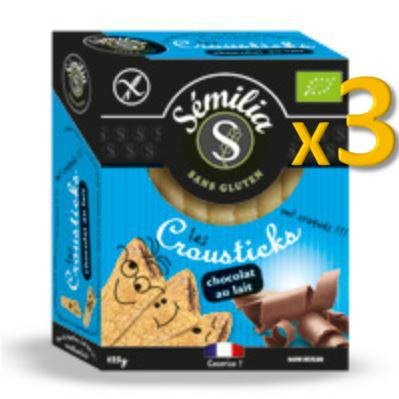 Crousticks Bio Chocolat au Lait 125 gr
