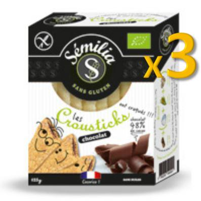 Crousticks Bio Chocolat Noir 125 gr