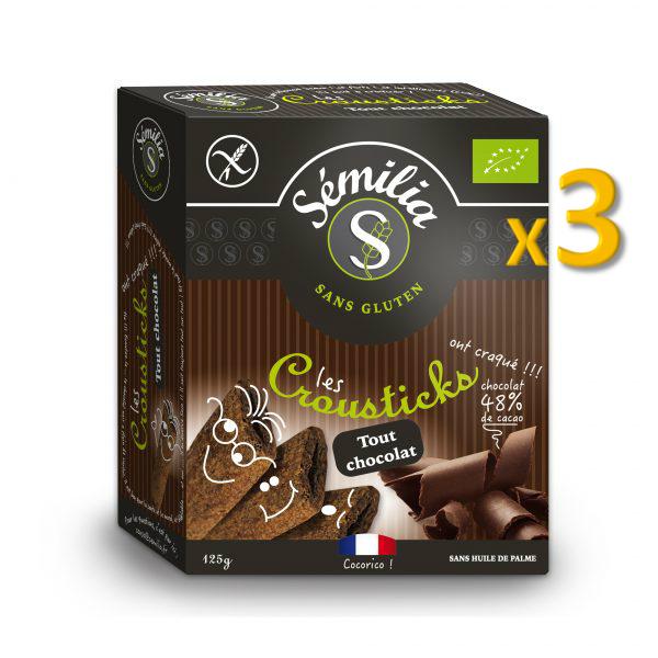Crousticks Bio Tout Chocolat 125 gr