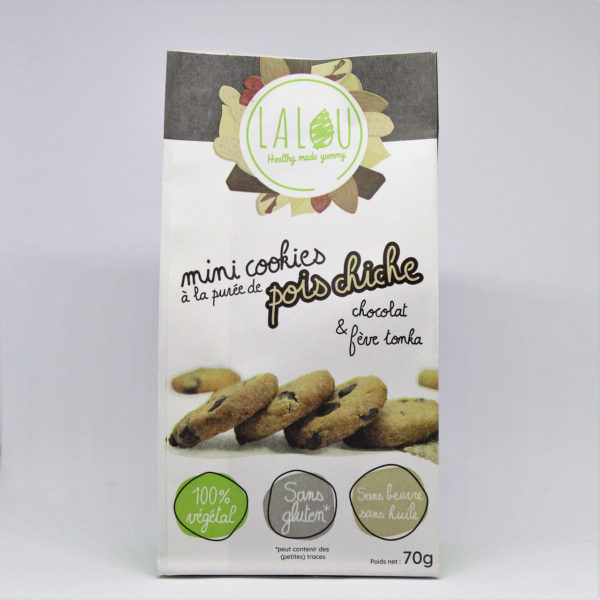 mini cookies pois chiches fève tonka chocolat