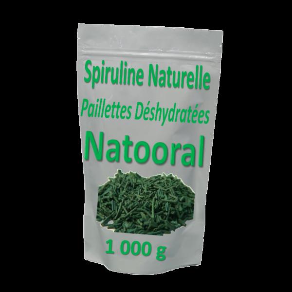 Spiruline naturelle déshydratée en paillettes  _ 1 kg