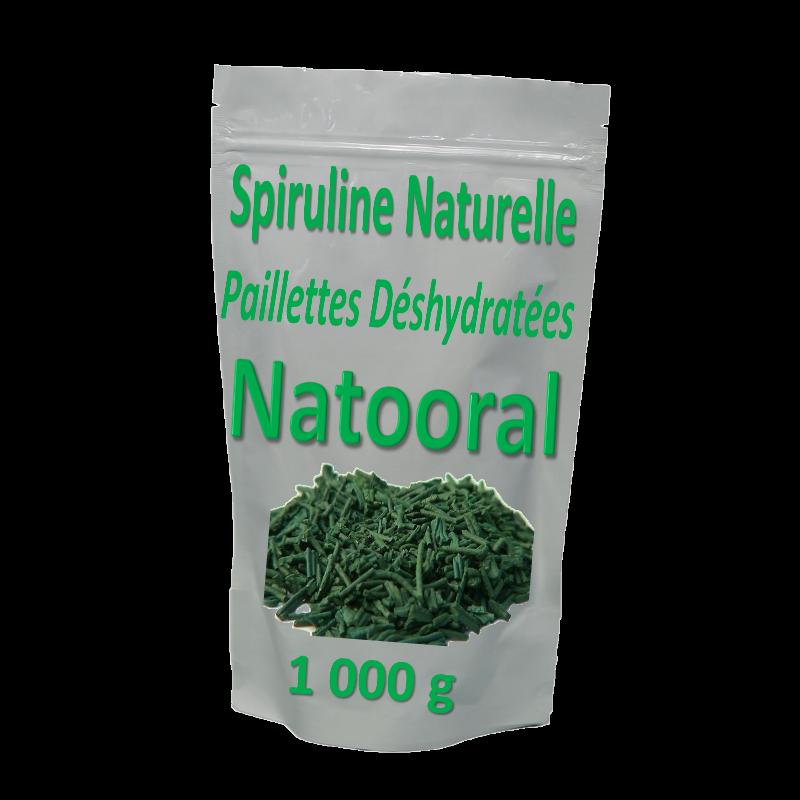 spiruline naturelle en paillettes déshydratées