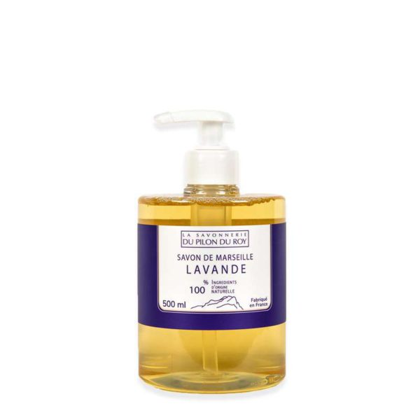 Savon de Marseille Liquide Lavande et Huile d'Olive Bio 500ml