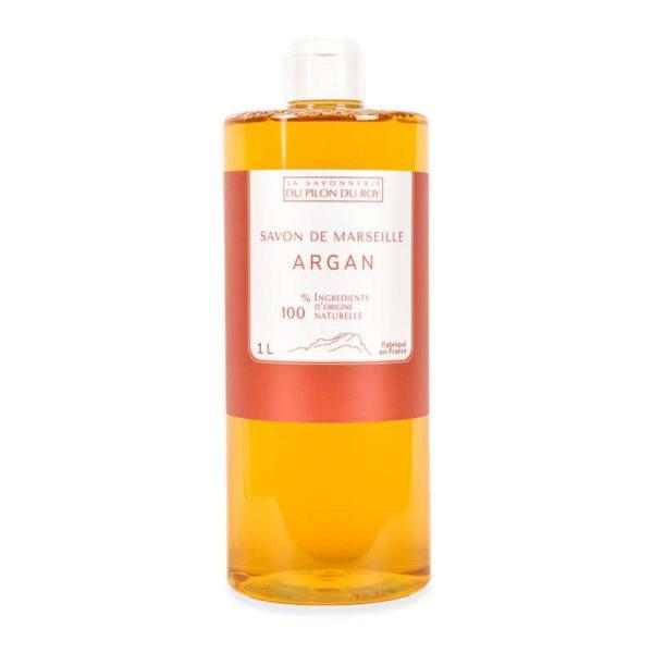 savon de marseille liquide orange argan bio en 300ml, 500ml et 1000ml. L'optimisme de l'huile essentielle d'orange douce, également appelée « Essence du Sourire », ajouté à la douceur de l'huile d'Argan pour des mains fraîches et nourries.Sans EDTA ni Paraben ni parfum de synthèse.