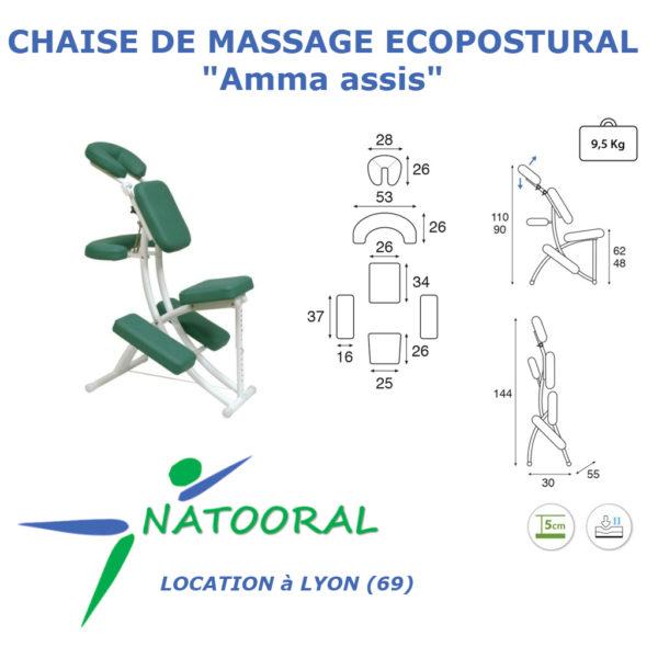 Chaise de Massage Amma Assis à louer