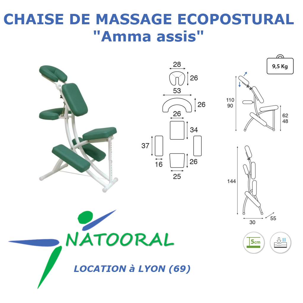 Chaise Amma Interesting Acupenergie Massage Amma Assis