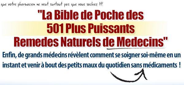Bible de Poche des 501 Plus Puissants Remèdes Naturels de Médecins