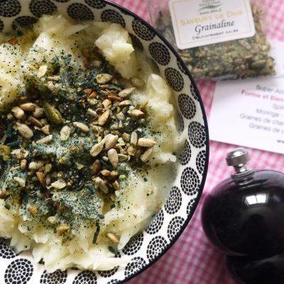 grainaline salée superaliments à base de spiruline naturelle pour agrémenter vos salades et plats de légumes et soupes en apports de nutriments