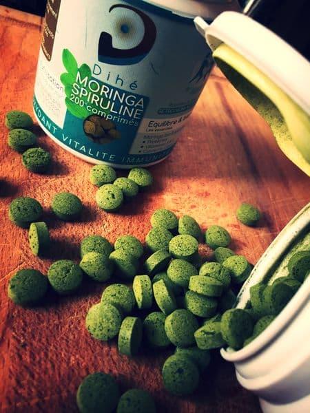Moringa Spiruline Bio Pot de 200 Comprimés _ 100g