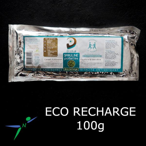 Spiruline en Paillettes Naturelle et Artisanale _ eco-recharge 100g