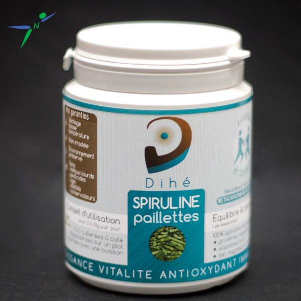Spiruline en Paillettes Naturelle et Artisanale _100g