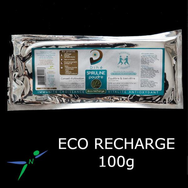 Spiruline en Poudre Naturelle et Artisanale _ eco-recharge 100g