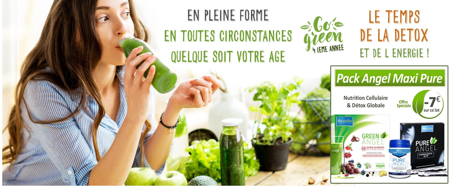 natooral vitanutrition green angel compléments alimentaires naturels bio issus de l'agriculture biologique détox nutrition cellulaire
