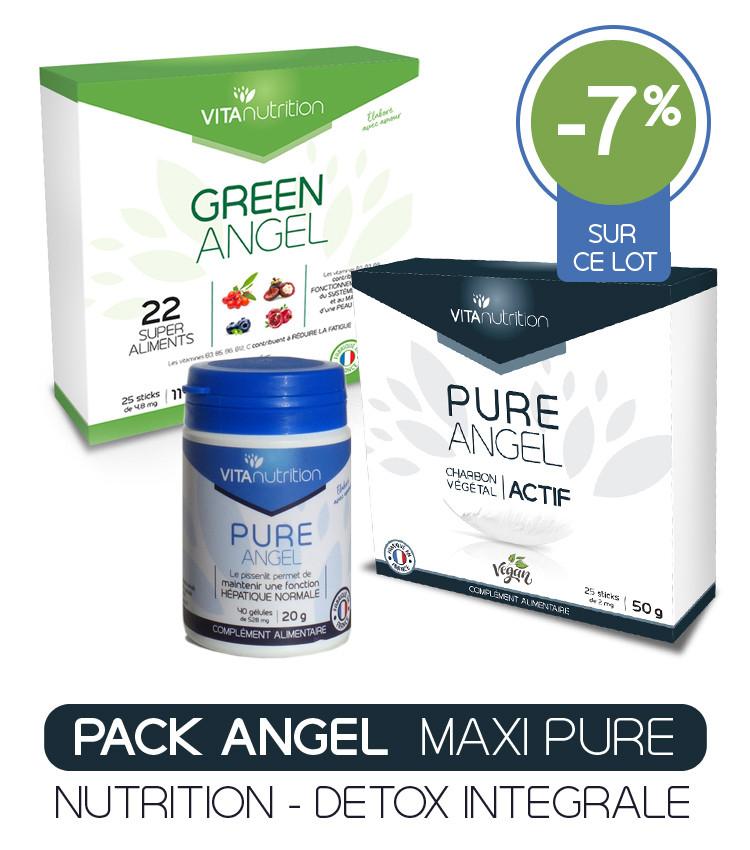 Détox intégrale Pack Angel Maxi Pure Processus N.E.C. Nutrition cellulaire - Elimination des toxines - Ciblage Nutrition Cellulaire et Elimination